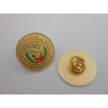 Shinning Gold Christmas Tree Badge with Diamonds (GZHY-LP-005)