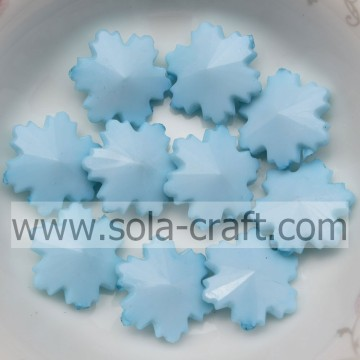 Fashion Large Sky Blue Acrylic 12*14*14MM Snowflake Beads For Christmas Decoration