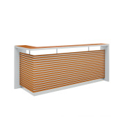 Office Furniture, Reception Desk with Striated Striated Decoration (OWQT3401-24)