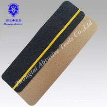 "Anti-slip tape grit 60#/80# black with yellow line for warning 6"" x 24"""