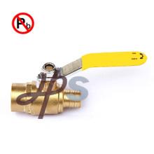Válvula de esfera de latão livre de chumbo forjado a quente para tubo PEX (PEX xMale)