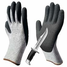 Niveau 5 Antidérapant Revêtement en nitrile sablonneux respirant Résistance à la coupure Gants de sécurité