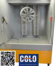 Car Rim Powder Coating Booth (Pulverbeschichtungskabine)