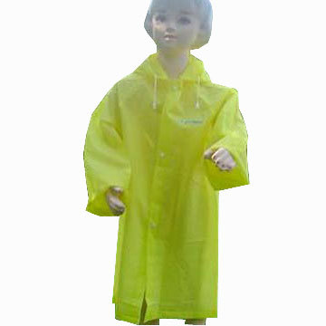 Fashion Plastic eva Raincoat