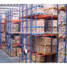 armazenamento de fábrica de armazém resistente duplo-profundidade paletes