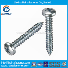 China Supplier Stock DIN7972 stainless steel Slotted countersunk head tapping screws