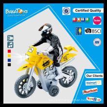 Grande promoção! Hot venda plástico puxar para trás brinquedo com motocicleta cross homem