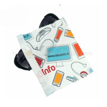 Logotipo personalizado jóias óculos de microfibra pano de limpeza