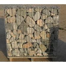 Venta barato de retención de malla de alambre de metal Gabion Box Stone Jaula