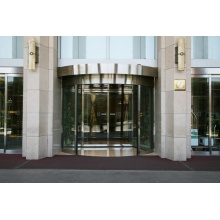 Exterior Entrances with Commercial Two Wing Revolving Doors