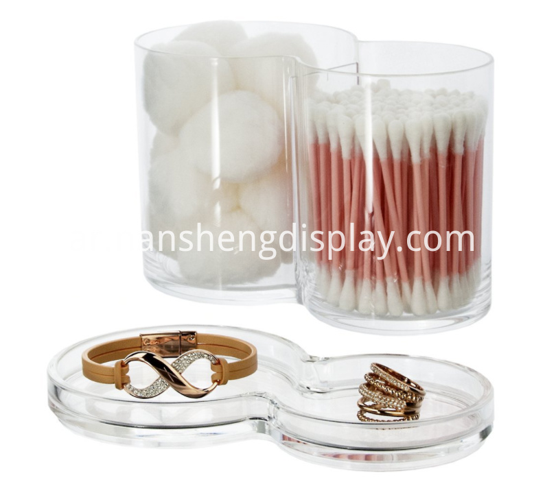 Acrylic Cotton Ball Swab Organizer