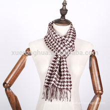 100% cashmere scarf in gird for men