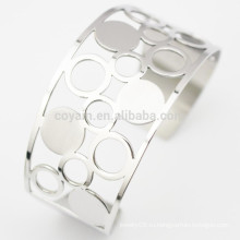 2015 Женщины Модные ювелирные изделия Мода Ювелирные изделия Серебряный металл Открытые Простые браслеты манжеты