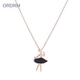 Cute Ballerina Dancing Pendant Necklace For Child