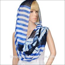 мода дешевые шарф труба 100 полиэстер бесконечность шарф с подгонянным печатанием