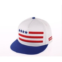 Tampão da forma com tampões / chapéus do logotipo do bordado das bandeiras dos Estados Unidos