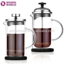 Großverkauf neues Produkt hohe Borosilikatglas Französisch Kaffeepresse mundgeblasenen Glaswaren
