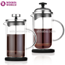 Wholesale new product high borosilicate glass french coffee press handblown glassware