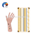 Women Pop Gold Silver Temporary Metallic Tattoo Body Henna Jewellery Sticker High quality gold foil stickers body decoration for hen party>>> Bracelet Tattoos Stickers temporary tattoo paper>>> Henna Tattoo custom metallic temporary tattoo>>>