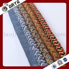 El diseño especial tejió la cuerda decorativa para la decoración del sofá o el accesorio de la decoración casera, cuerda decorativa, 6m m