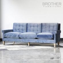 Sofá de assento da mobília da tela de estofamento / sofá do threeseat