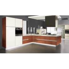 L Form Acryl Küchenschränke für Projekt