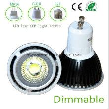 Dimmable 5W Preto GU10 COB LED Light