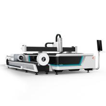 Fiber laser cutting machine with two exchange platform