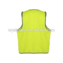 Protección de trabajo, equipos de seguridad y de seguridad, chalecos de seguridad, tricot de poliéster 120GSM
