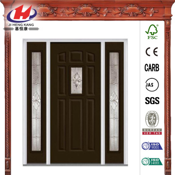 Classic Clear Glass Steel Prehung Front Door