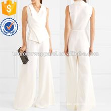 Wool-crepe Jumpsuit Manufacture Wholesale Fashion Women Apparel (TA3066P)