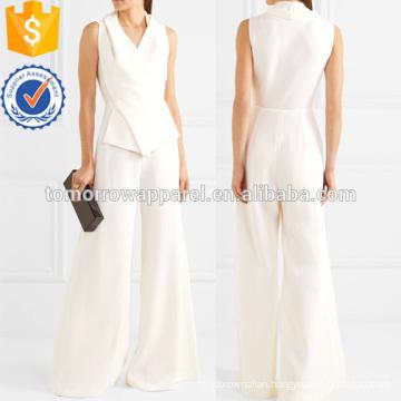 Wool-crepe Jumpsuit Manufacture Wholesale Fashion Women Apparel (TA3066P)