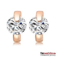 Boucles d'oreilles en mode Zircon Huggie pour femmes (CER0195-A)