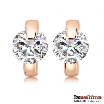 Fashion Zircon Huggie Earrings for Women (CER0195-A)