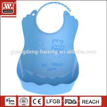 HAIXING pe soft plastic baby bib