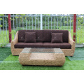 2017 Europe Design Water Hyacinth Sofa Set for Indoor Wicker Furniture