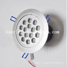 Высокое качество продукции AC85-265V 48V DC 12w 15w 18w алюминиевый супермаркет 15w привело потолочное освещение