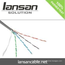Lansan 4 cabos nus cobre cat5e cabo 24awg BC cabo 305m melhor preço lan cabo boa qualidade