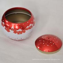 Armazenamento de Natal Biscoitos de estanho de metal Caixa de biscoito Caixa de doces Embalagem Caixa de lata