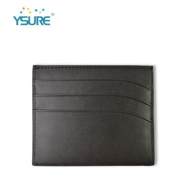 Ysure Carteira bolsos frontais titular do cartão de crédito de couro