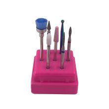 China factory 7pcs nail drill machine tool clean manicure cuticle diamond quartz ceramic nail drill bit set