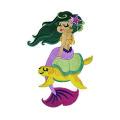 Legendary Mythical Unique Mermaid Sea Turtle Patch