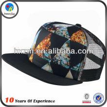 novelty flat brim trucker hat