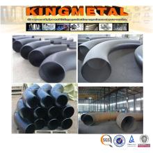 Curva de tubo de acero de carbono de 90 grados sin costura de 90 grados