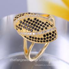 anillos de lujo al por mayor de la joyería del oro 18k para las mujeres