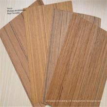 Folheado de fachadas de móveis de folheado de madeira artificial