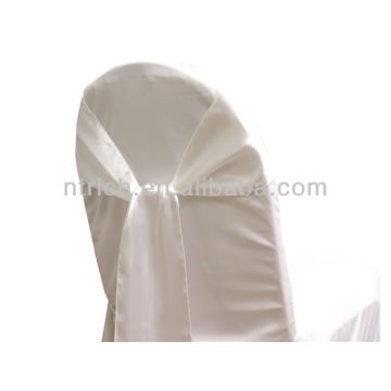 gravata de faixa de cadeira cetim branco, chique moda volta, laço, nó, casamento barato cadeira capas e faixas para venda