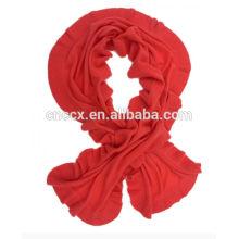 PK17ST179 lady fashion cashmere ruffle scarf