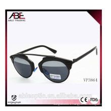 Hot selling wholesale fashion sunglasses with metal plastic mixed frame