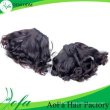 Trama natural do cabelo humano de Remy do cabelo do Virgin da onda do preço de fábrica